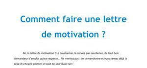 Comment faire une lettre de motivation - Méthodologie