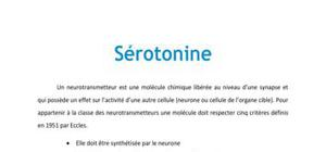 La sérotonine - Neurologie PACES
