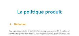La politique produit