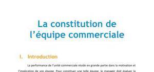 La constitution de l'équipe commerciale - Management BTS MUC