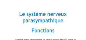 Le système nerveux parasympathique - Médecine PACES