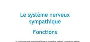 Le système nerveux sympathique Fonctions - Médecine PACES