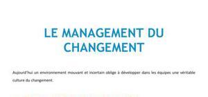 Le management du changement
