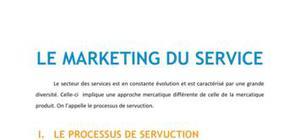 Le marketing du service - BTS NRC