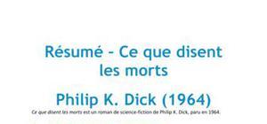 Ce que disent les morts, Philip K. Dick - Résumé