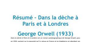 Dans la dèche à Paris et à Londres, Georges Orwell - Résumé