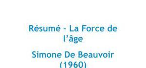 La force de l'âge, Simone De Beauvoir - Résumé