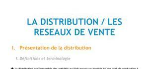 La distribution / Les réseaux de vente - BTS NRC