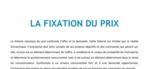 La fixation du prix - Bac+2 Marketing BTS NRC