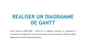 Réaliser un diagramme de Gantt - Management