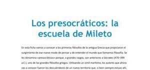 Los presocráticos : la escuela de Mileto