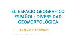 El espacio geográfico español : diversidad geomorfológica