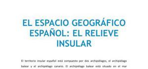 El espacio geográfico español : el relieve insular
