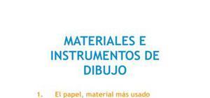 Materiales e instrumentos de dibujo