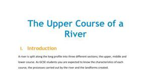 The upper course of a river