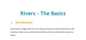 Rivers - The Basics