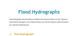 Lesson on flood hydrographs