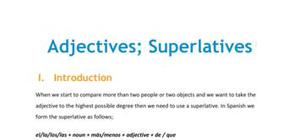 Lesson on superlatives
