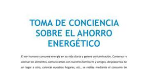 Toma de conciencia sobre el ahorro energético