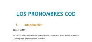 Los pronombres COD