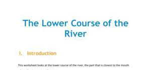 Lesson on the lower course of the river
