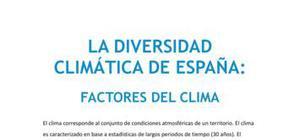 La diversidad climática de España : factores del clima