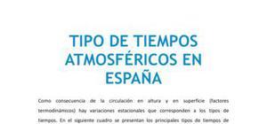 Tipos de tiempos atmosféricos en España