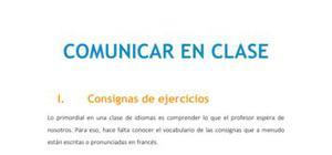 Comunicar en clase