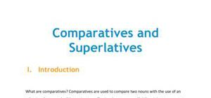 Lesson on comparatives and superlatives