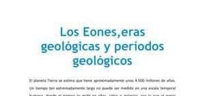 Los eones, eras geológicas y períodos geológicos