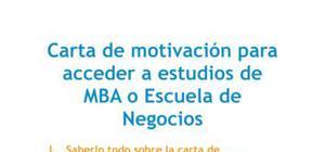 Carta de presentación - Escuela de Negocios
