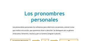 Los pronombres personales en inglés