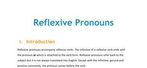 Lesson on reflexive pronouns