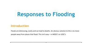 Lesson on responses to flooding