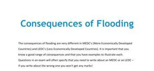 Lesson on the consequences of flooding