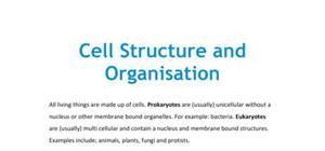 Cell structure and organisation