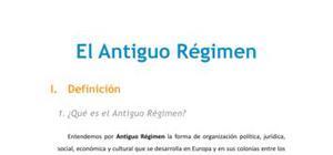 El Antiguo Régimen