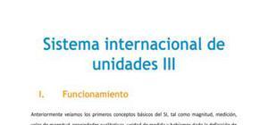 Sistema internacional de unidades III