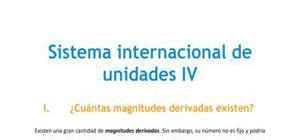 Sistema Internacional de unidades IV