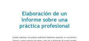 Elaboración de un informe de práctica
