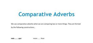 Spanish comparative adverbs