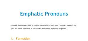 French emphatic pronouns
