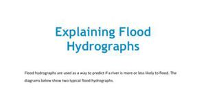 The explanation of flood hydrographs