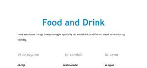 Food and drink in Spanish