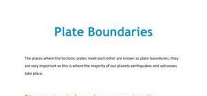Plate boundaries - Part 1