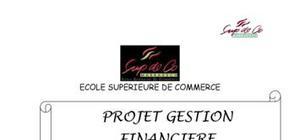 """Projet gestion financiere """"tuning"""""""