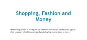 Shopping, fashion and money in French