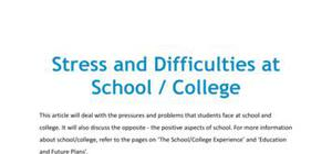 Stress and difficulties at school/college in French