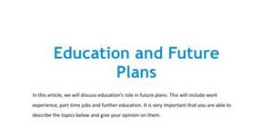 Education and future plans in French