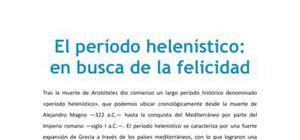El período helenístico : en busca de la felicidad